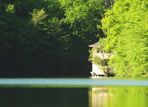 Гордость Кабаньего Перевала - домики на воде. Озеро сразу за вашим окном!